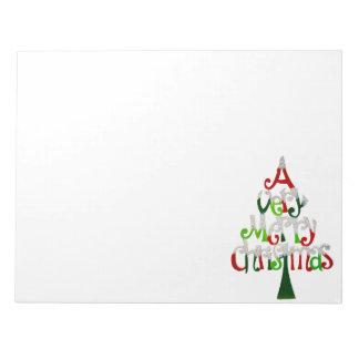 Very Merry Christmas Tree Notepad