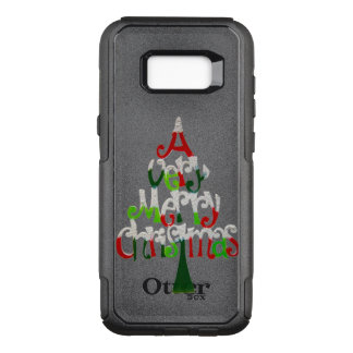 Very Merry Christmas Tree OtterBox Commuter Samsung Galaxy S8+ Case