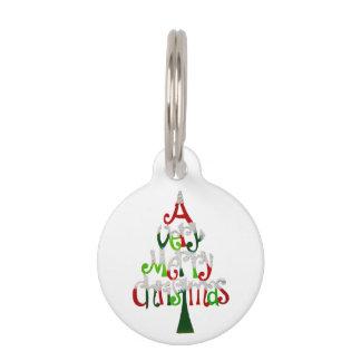 Very Merry Christmas Tree Pet ID Tag