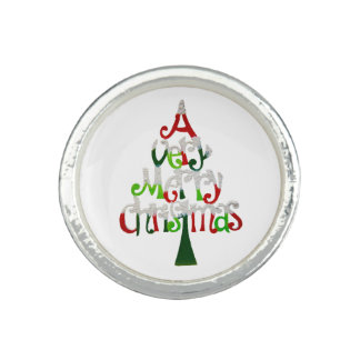 Very Merry Christmas Tree Photo Ring