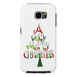 Very Merry Christmas Tree Samsung Galaxy S6 Cases