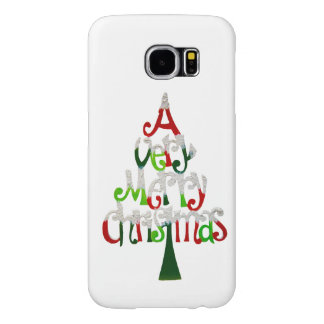 Very Merry Christmas Tree Samsung Galaxy S6 Cases