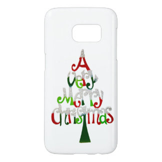Very Merry Christmas Tree Samsung Galaxy S7 Case