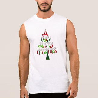Very Merry Christmas Tree Sleeveless Shirt
