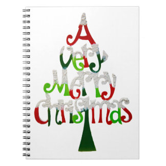 Very Merry Christmas Tree Spiral Notebook