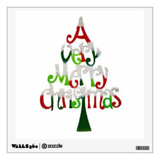 Very Merry Christmas Tree Wall Sticker