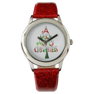 Very Merry Christmas Tree Watches
