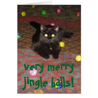 very merry jingle balls! card