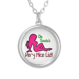Very Nice List Round Pendant Necklace