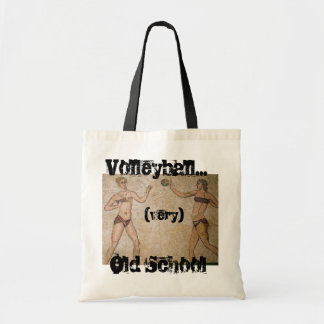 Very Old School Beach Volleyball Tote Budget Tote Bag
