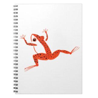 Very Orange Frog Notebooks