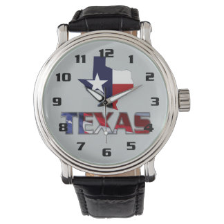 Very Patriotic Texas and Map Modern design Watch