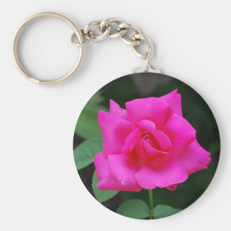 Very Pink Rose Bloom keychain