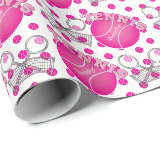 Very Pink Tennis Ball Game Wrapping Paper