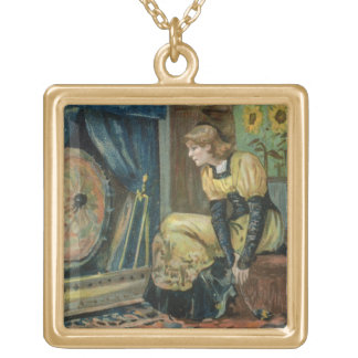 Very Precious Wishes For You, Victorian Christmas Gold Plated Necklace
