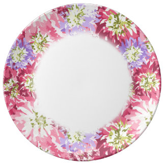 Very pretty floral in pink and mauve plate