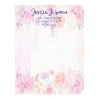 Very Pretty Floral Letterhead