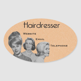 Very Professional Hairdresser's Oval Labels 2 Oval Sticker