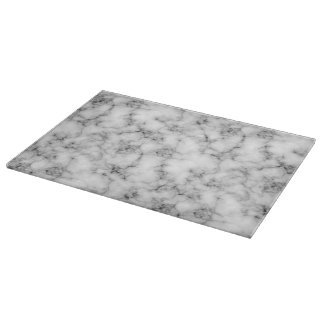 Very realistic White Marble natural stone Printed Cutting Board