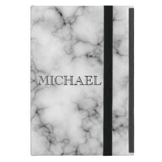 Very realistic White Marble Pattern With Monogram Case For iPad Mini