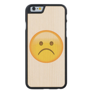 Very sad - Emoji Carved® Maple iPhone 6 Slim Case