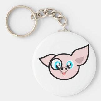 Very Silly Piggy Basic Round Button Keychain