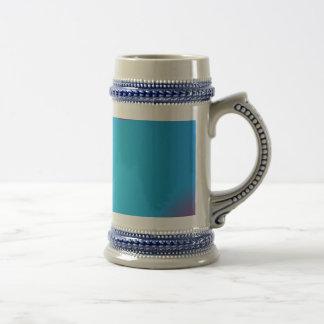 Very Simple Aqua Blue Abstract Art Coffee Mug