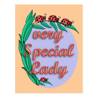 Very Special Lady Mother's Day Gift Postcard
