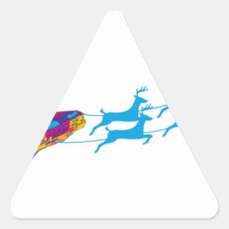 Very Supernaturnal Christmas Triangle Sticker