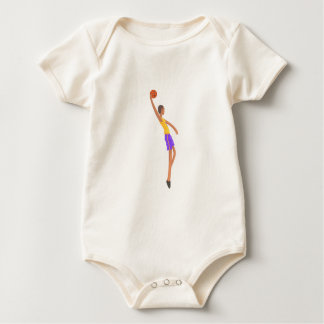 Very Tall Basketball Player Action Sticker Baby Bodysuit