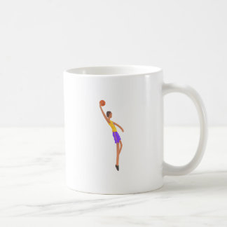 Very Tall Basketball Player Action Sticker Coffee Mug
