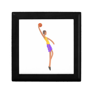 Very Tall Basketball Player Action Sticker Gift Box