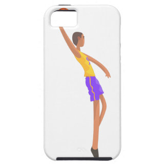 Very Tall Basketball Player Action Sticker iPhone 5 Case