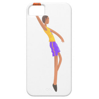 Very Tall Basketball Player Action Sticker iPhone 5 Cover