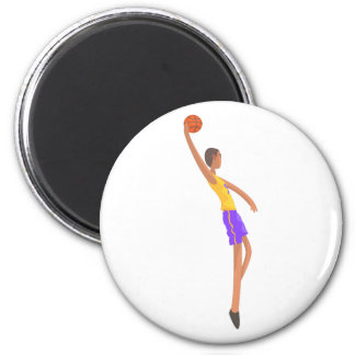 Very Tall Basketball Player Action Sticker Magnet