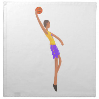 Very Tall Basketball Player Action Sticker Napkin