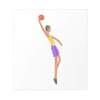 Very Tall Basketball Player Action Sticker Notepad