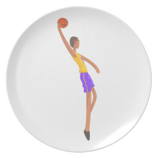 Very Tall Basketball Player Action Sticker Plate
