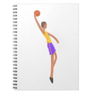 Very Tall Basketball Player Action Sticker Spiral Notebook
