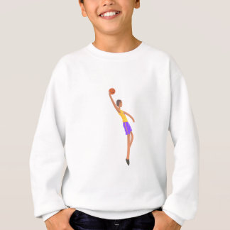 Very Tall Basketball Player Action Sticker Sweatshirt