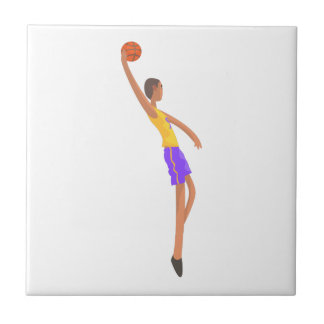 Very Tall Basketball Player Action Sticker Tile