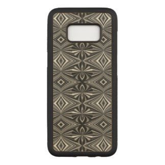 Very Unique Black and White Abstract Pattern Carved Samsung Galaxy S8 Case