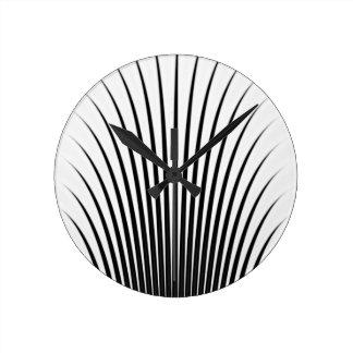 Very Unique Black White Stylish Chic Pattern Round Clock