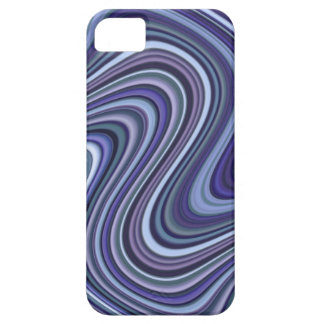 Very Unique Blue Shade Curvy Line Pattern Case For The iPhone 5