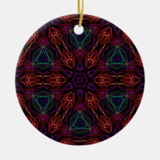 Very unique gift, LED light pattern Ceramic Ornament