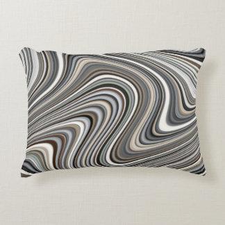 Very Unique Multi-Color Curvy Line Pattern Accent Pillow
