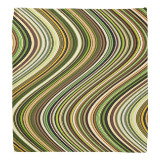 Very Unique Multi-Color Curvy Line Pattern Bandana