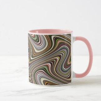Very Unique Multi-Color Curvy Line Pattern Mug