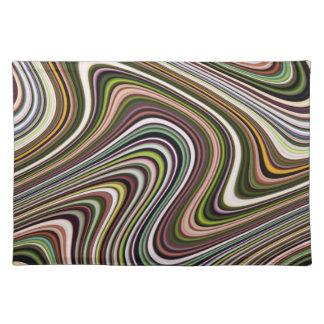 Very Unique Multi-Color Curvy Lined Placemat