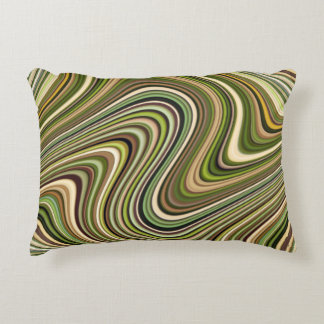 Very Unique Multi-Colored Curvy Line Pattern Decorative Pillow